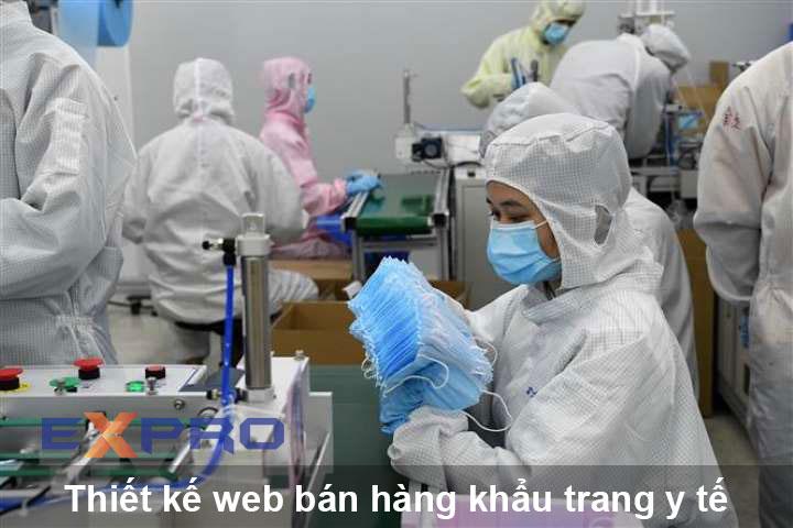 Thiết kế web bán hàng khẩu trang y tế