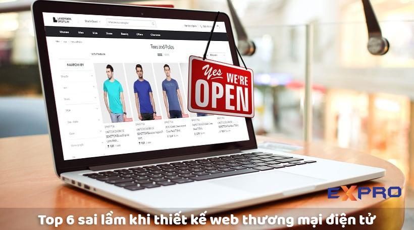 Những sai lầm cần tránh khi thiết kế web thương mại điện tử bạn cần biết