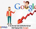 4 lý do tại sao các trang web có thể mất thứ hạng trên Google