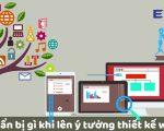 Cần chuẩn bị gì khi lên ý tưởng thiết kế website?