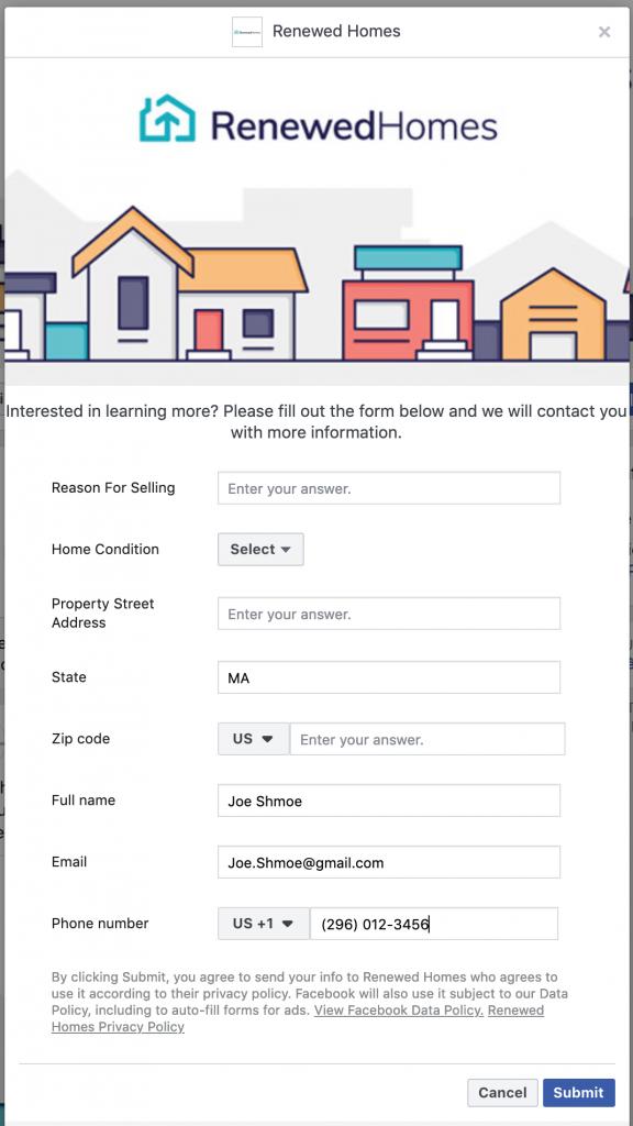 Quảng cáo Facebook tạo khách hàng tiềm năng đầy đủ