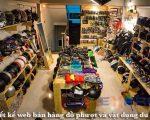 Thiết kế web bán đồ phượt, vật dụng du lịch bụi đẹp chất