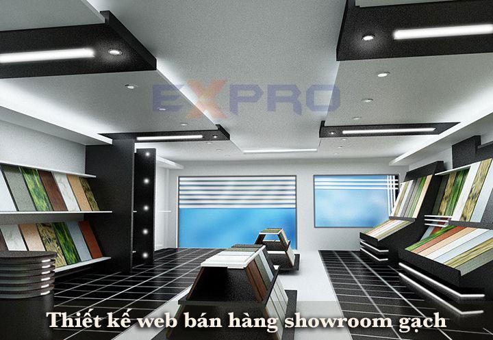 Thiết kế web showroom trưng bày gạch men - gạch ốp - vật liệu xây dựng