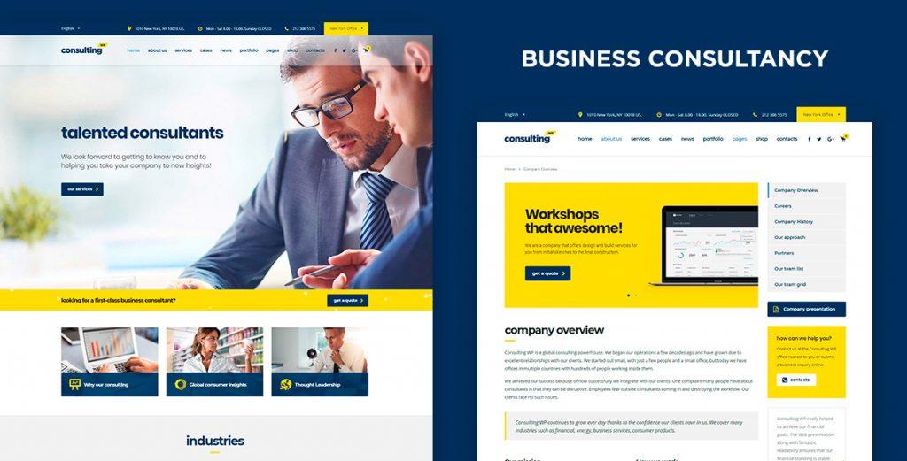 Consulting – mẫu website doanh nghiệp hoạt động đa lĩnh vực