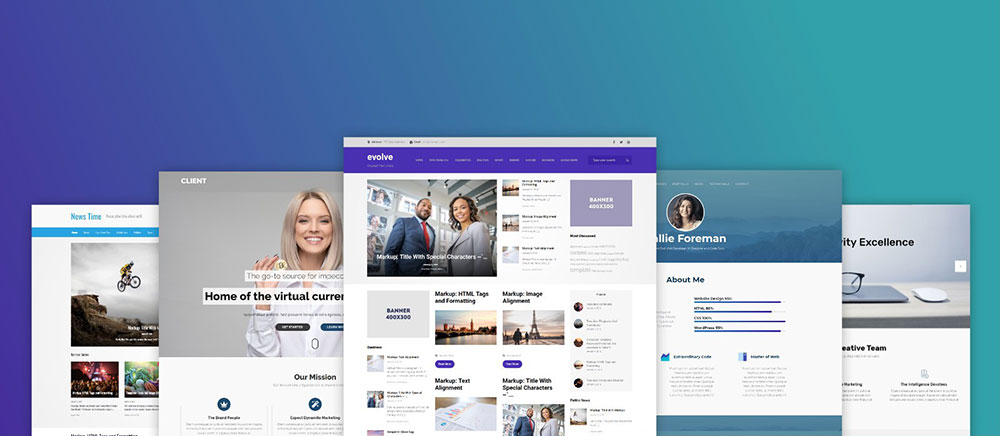 Mẫu web công ty Evolve