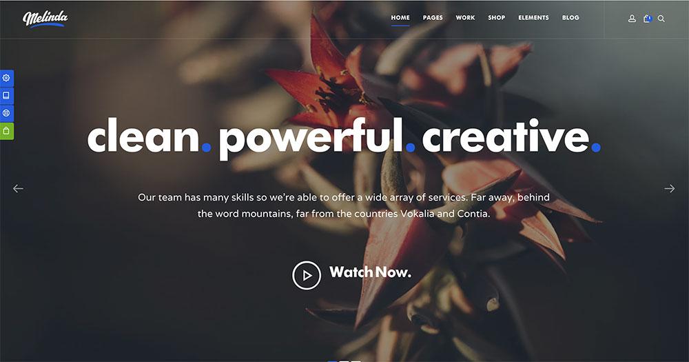 mẫu giao diện web công ty Melinda