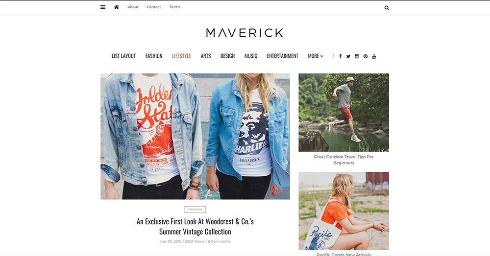 Mẫu giao diện web Mavericks