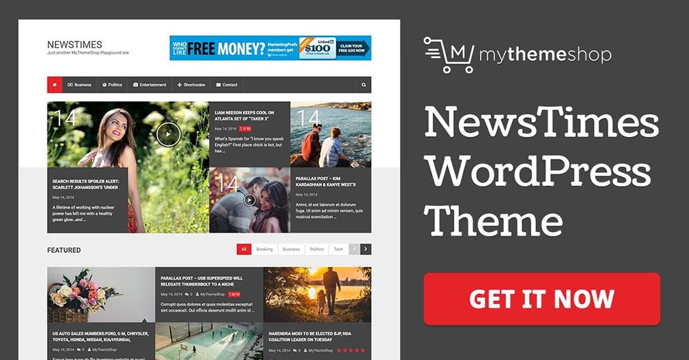 Mẫu webiste tin tức newstimes