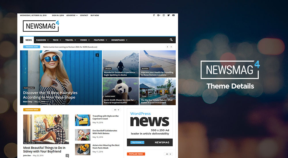 Mẫu web tin tức - Newsmag
