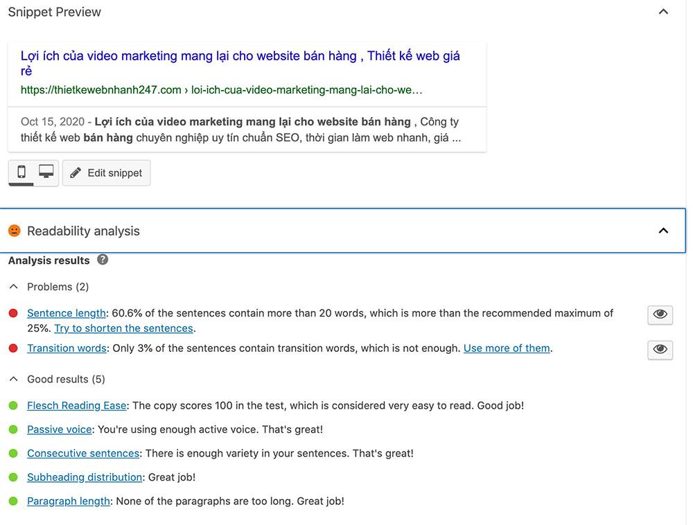công cụ kiểm tra seo Yoast SEO Plugin WordPress