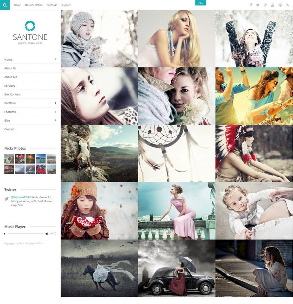 Mẫu web ảnh viện áo cưới - Santone
