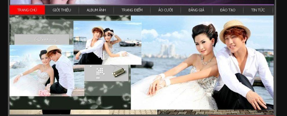 Mẫu thiết kế website ảnh viện áo cưới đẹp mắt thu hút năm 2020