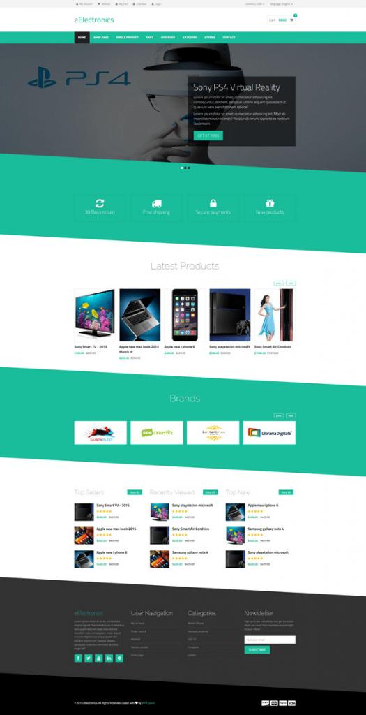 Mẫu website bán hàng eElectronics