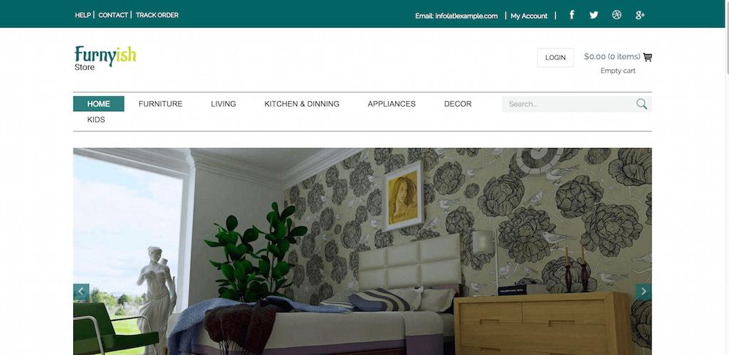 Mẫu web bán hàng nội thất Furnyish