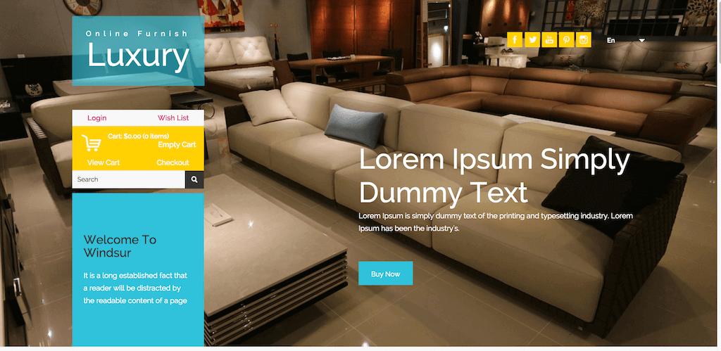 Mẫu web bán hàng nội thất Luxury & Furnish