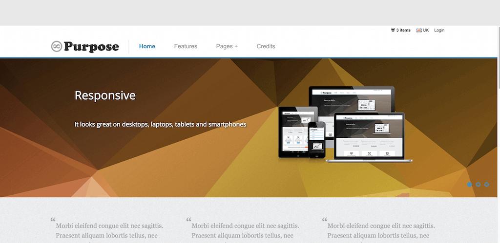 Mẫu website bán hàng mPurpose