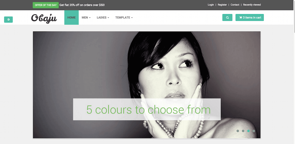 Mẫu website bán hàng Obaju