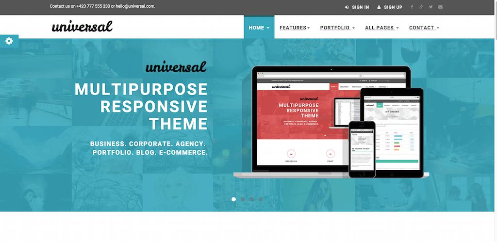 Mẫu giao diện website Universal