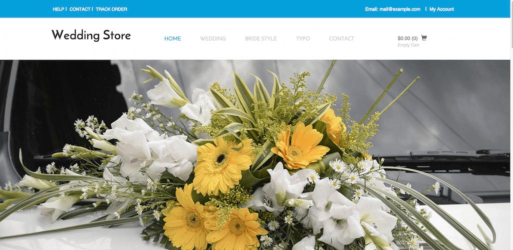 Mẫu web bán hàng về dịch vụ đám cưới Store