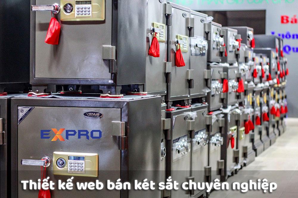 Thiết kế web bán két sắt chuyên nghiệp