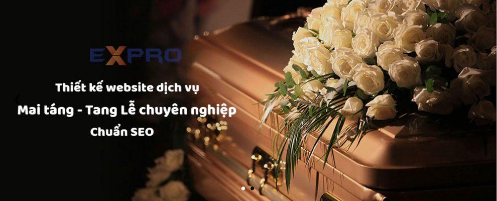 Thiết kế web dịch vụ mai táng tang lễ chuyên nghiệp