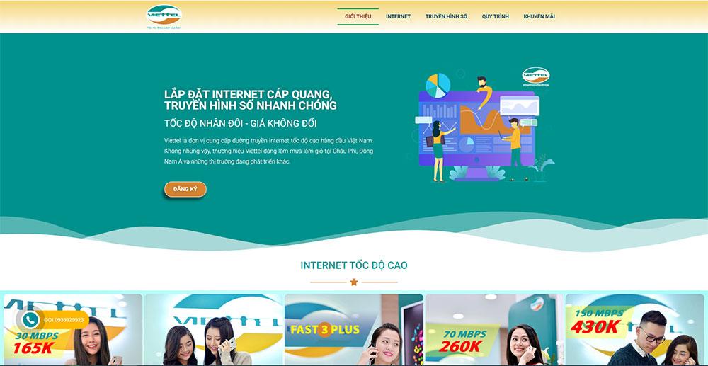 web dịch vụ lắp đặt mạng internet viễn thông