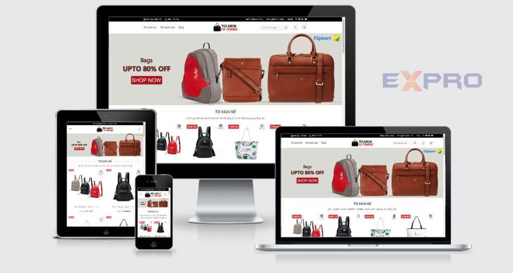 Thiết kế web bán túi xác thời trang chuyên nghiệp