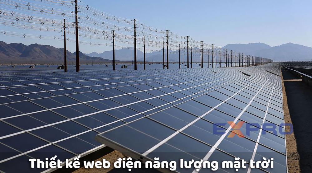 Thiết kế website điện nặng lượng mặt trời