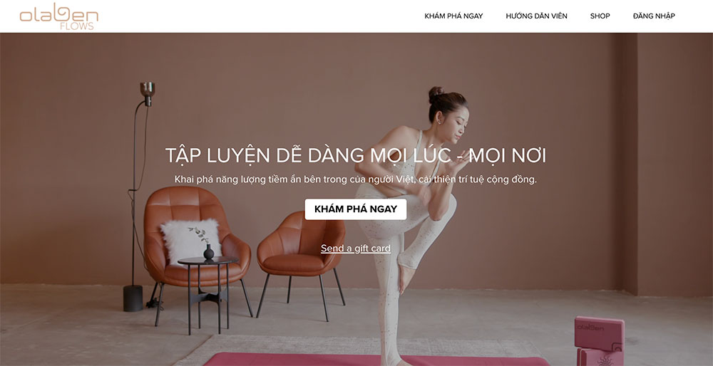 Website học yoga trực tuyến