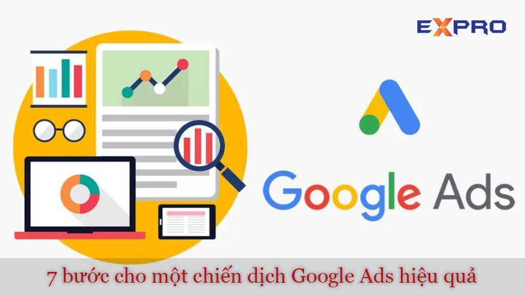 7 bước để có được một chiến dịch quảng cáo Google Adwords hiệu quả