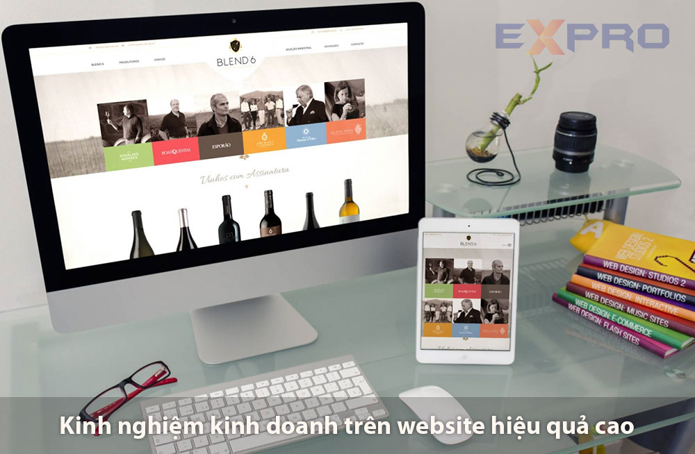 Kinh nghiệm kinh doanh website hiệu quả cao