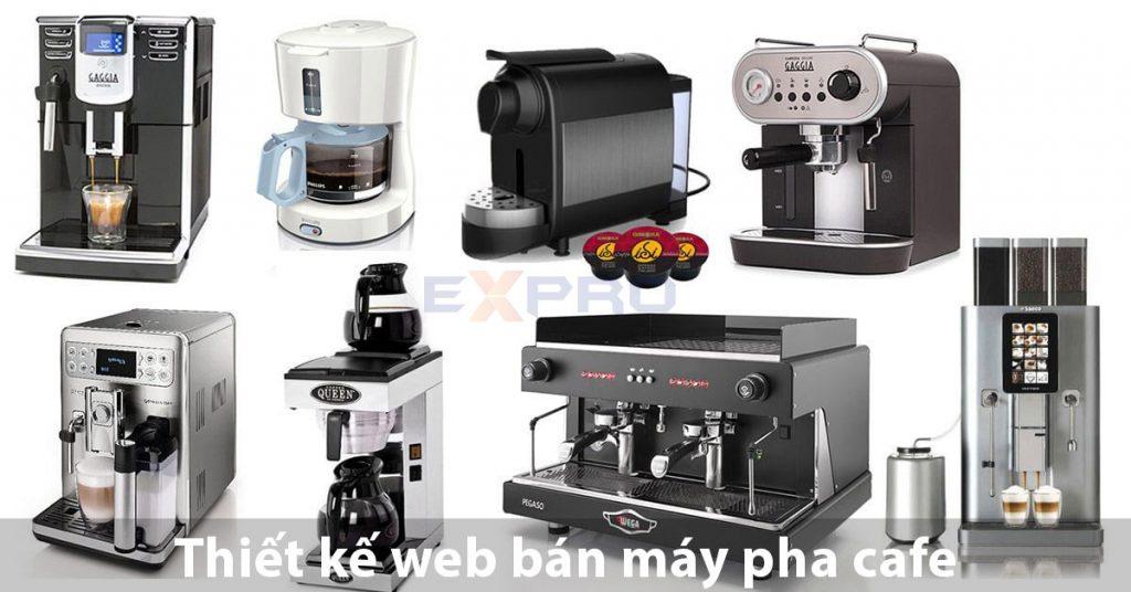 Thiết kế website bán máy pha cafe